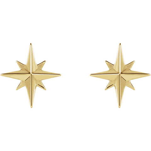 Star Studs - Yellow Gold