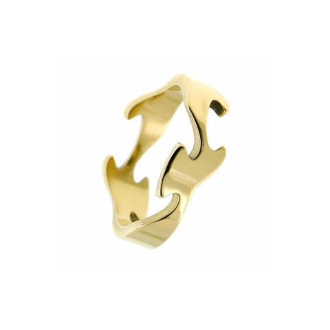 Gold Fusion Centre Ring
