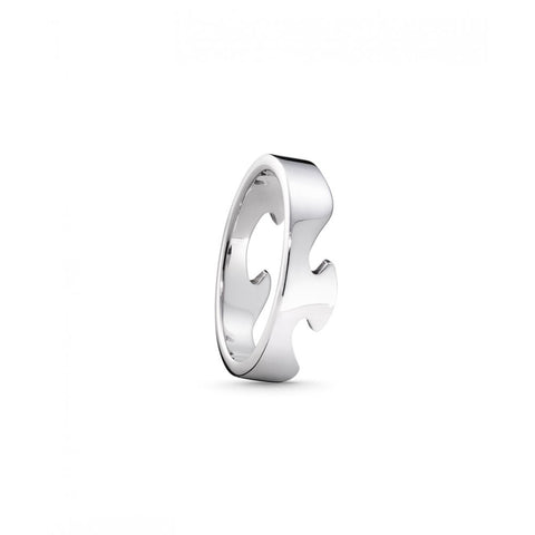 White Gold Fusion End Ring