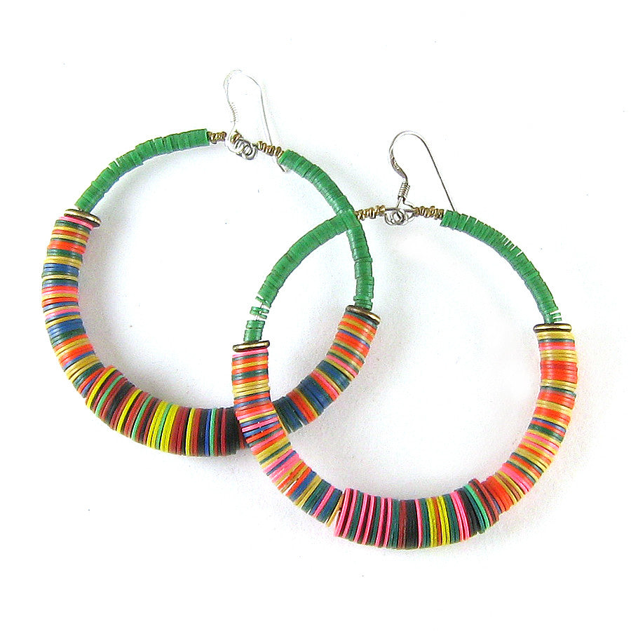 Vintage Vulcanite Hoop Earrings