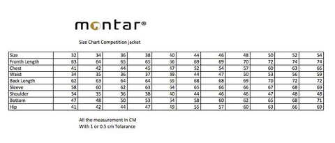 Montar Jacket Sizing