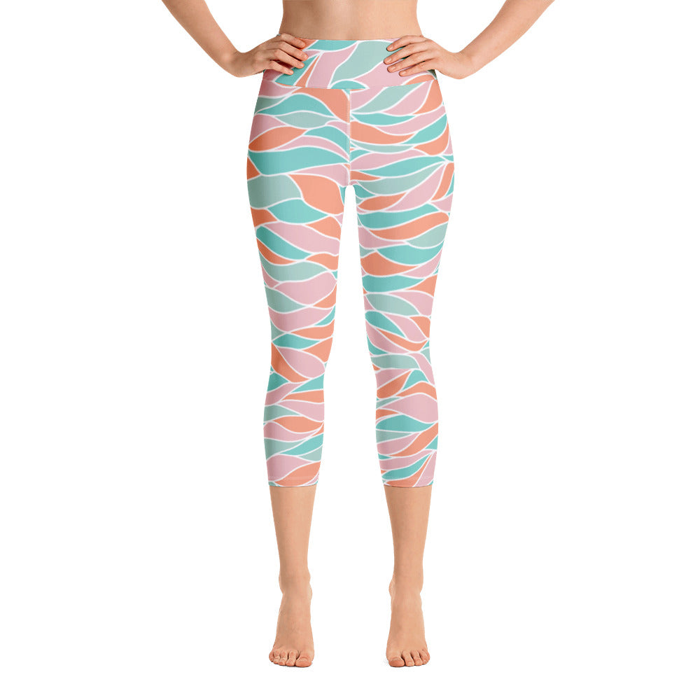 Crashing Waves Yoga Capris