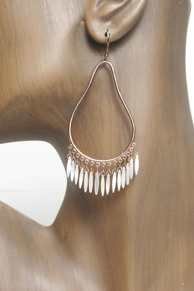 Teardrop Earrings with Shells