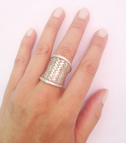 Woven Cuff Ring