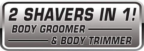 2 shavers in 1 - body groomer and body trimmer