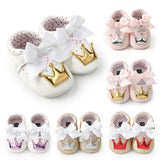 Baby Girl PU Leather Shoes First Walkers Non-slip Footwear Crib Shoes