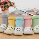 Kacakid Baby Girl Socks With Rubber Soles Leather Anti-slip Shoes