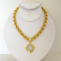 Two-Tone Coin Necklace
