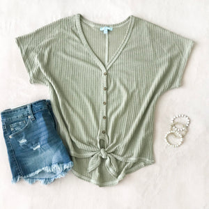 Olive Knot Top