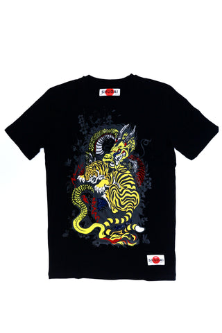 SHUDAI Tiger Vs Dragon Tee (Black)