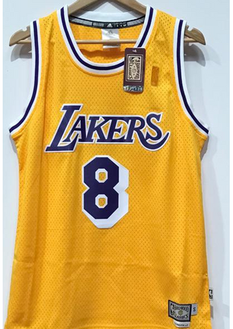 Adidas INTL Retired NBA Los Angeles Lakers Kobe BRYANT #8 - Yellow Famous Rock Shop. 517 Hunter Street Newcastle, 2300 NSW. Australia