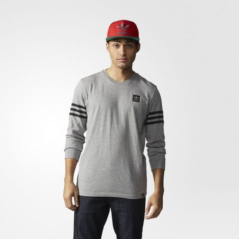 Adidas Originals Long Sleeve Clima Tee Core Heather S93462