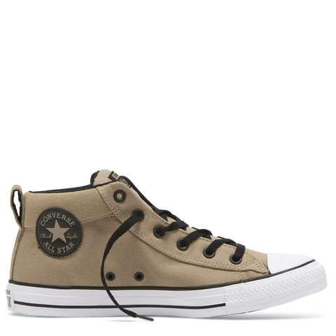 Converse Chuck Taylor All Star Uniform Mid Top Khaki Black 163401 Famous Rock Shop Newcastle, 2300 NSW. Australia. 1