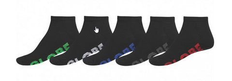 Globe Boys Stealth Ankle Sock 5 Pack GB40929005 Famous Rock Shop Newcastle 2300 NSW Australia