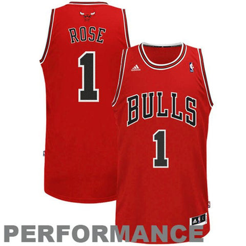 Adidas NBA Jersey BULLS ROSE #1 Red
