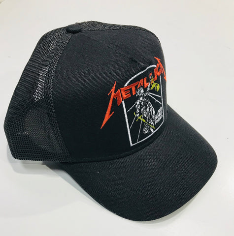 Metallica Justice Black Trucker Cap