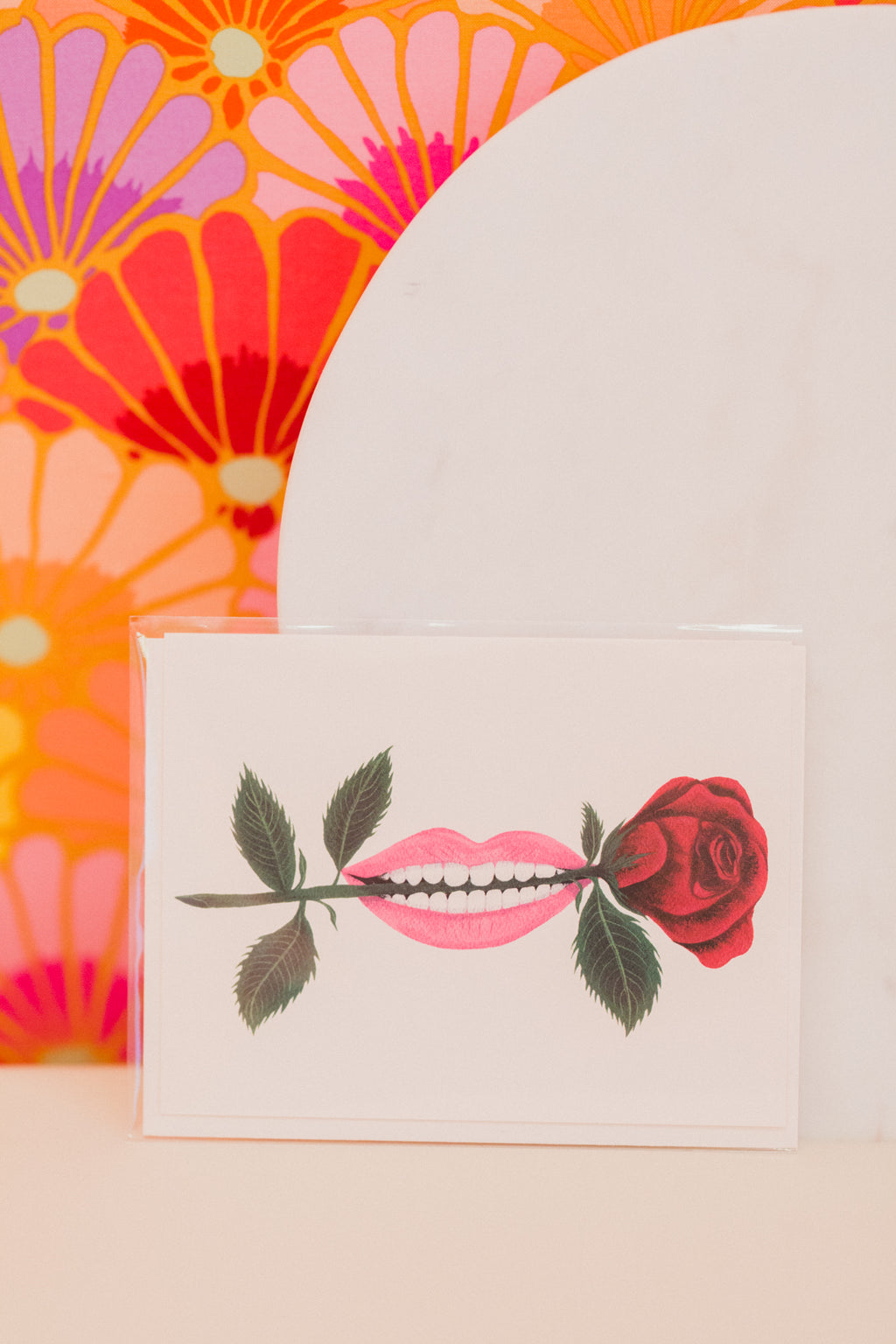 Rose in Mouth Card
