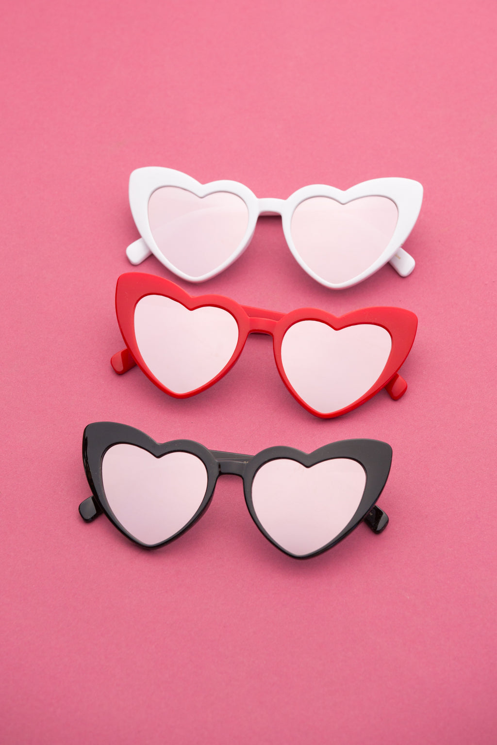 Mirrored Lense Heart Sunglasses