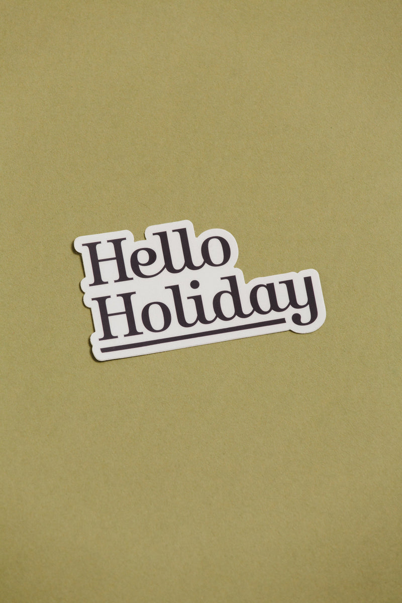 Hello Holiday Sticker