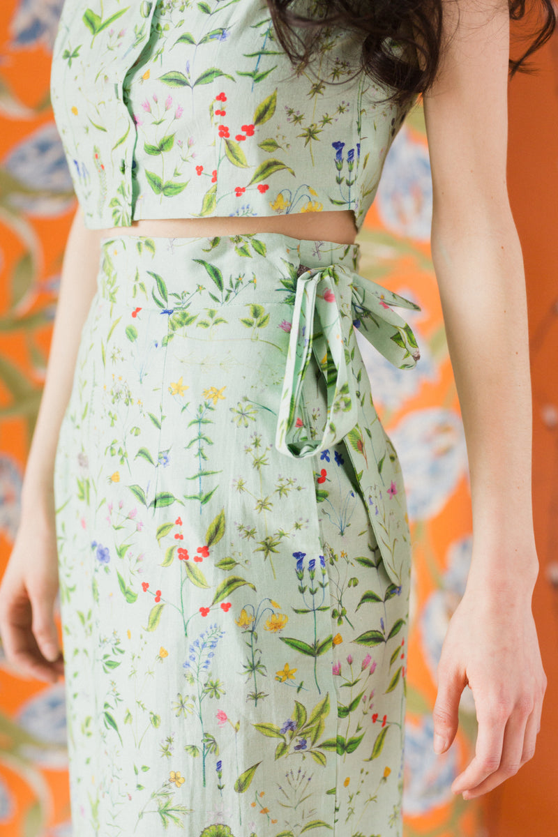 Tulip Skirt in Blooming Print