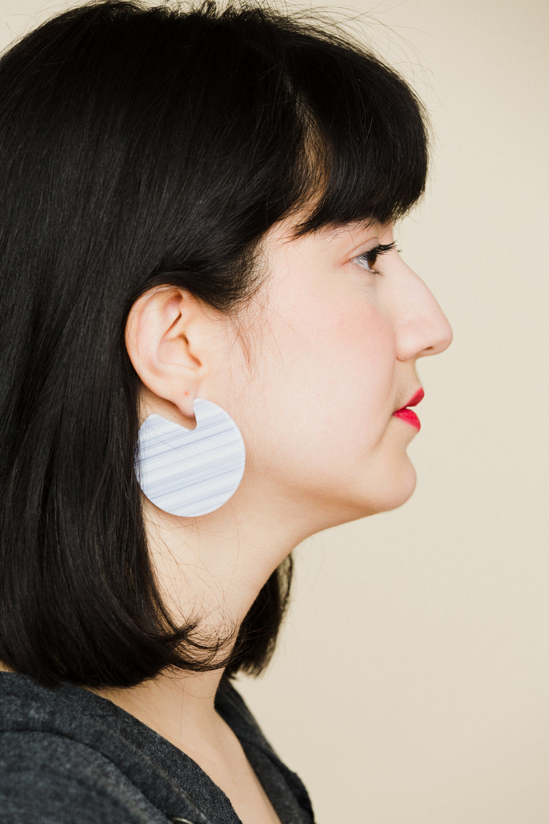 Clare Earrings in Riviera Stripe