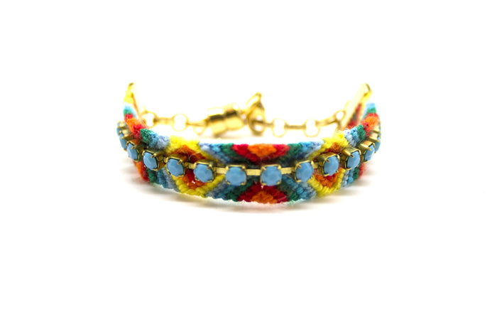 Psychedelic Turquoise Friendship Bracelet