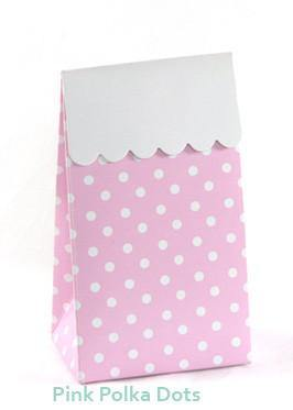 Sambellina Party Treat Bags - Polka Dot - Pink - Bickiboo Party Supplies