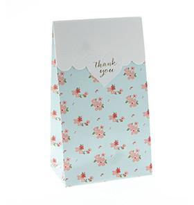 Sambellina Party Bags - Blue Floral - Bickiboo Party Supplies