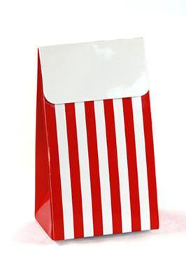 Sambellina Party Bags - Red Striped - Bickiboo Party Supplies