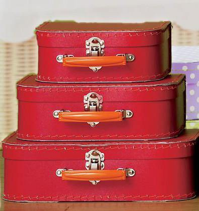 Red Euro Suitcases - Bickiboo Party Supplies