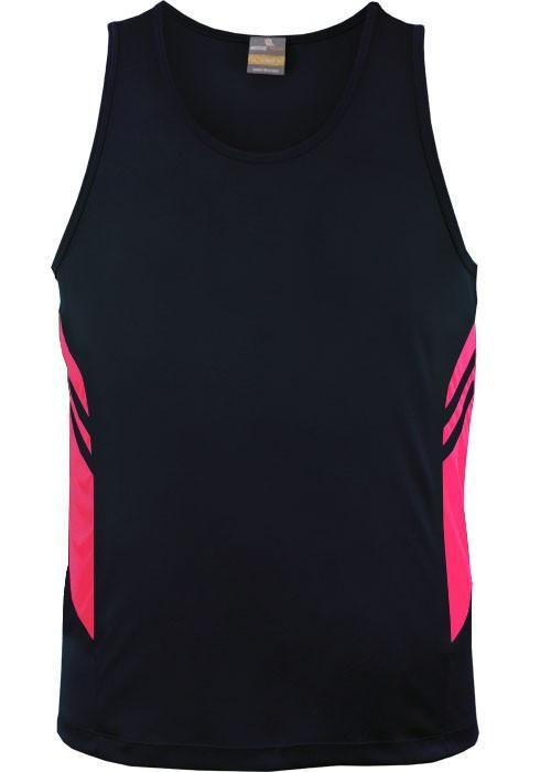 Aussie Pacific-Aussie Pacific Kids Tasman Singlets(1st 14 colors)-4 / Navy/Neon Pink-Uniform Wholesalers - 13