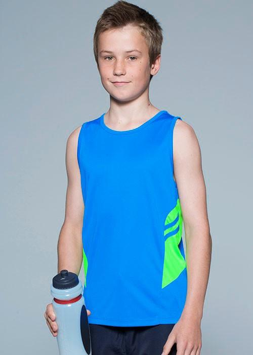 Aussie Pacific-Aussie Pacific Kids Tasman Singlets(1st 14 colors)--Uniform Wholesalers - 1