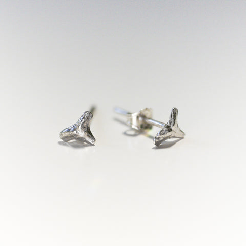 Small Sharks Teeth Studs {silver}