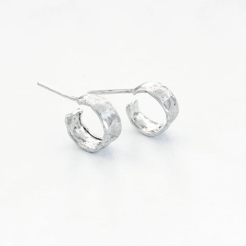 small silver hoop studs