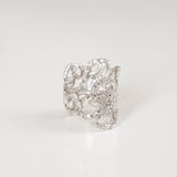 WIDE LACE RING {silver}