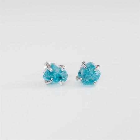 Blue Apatite stud earrings