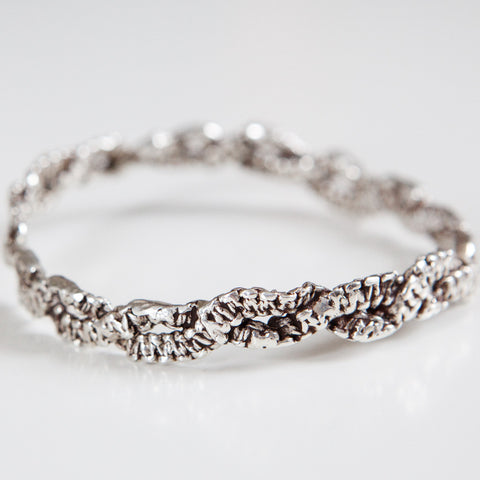 TATTED LACE BANGLE silver