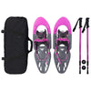 Womens Pink Snow Shoes Carry Bag Adjustable Poles