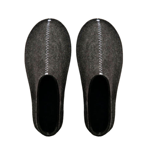 Unisex felt Slippers -Dark grey