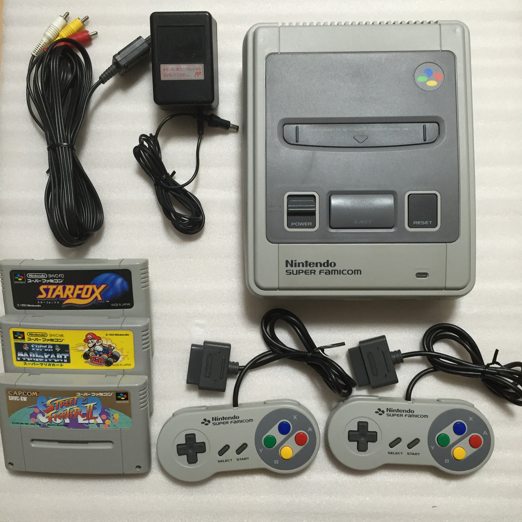 Super Famicom System + 3 games