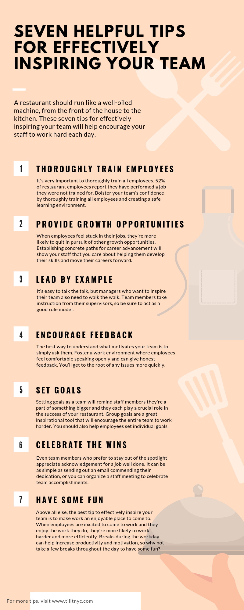 Seven Helpful Tips for Effectively Inspiring Your Team infographic