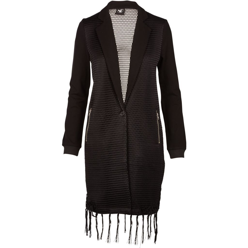 Long Blazer Dress in Black