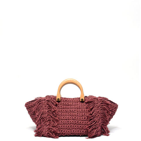 Philomena Crochet Crossbody Magenta