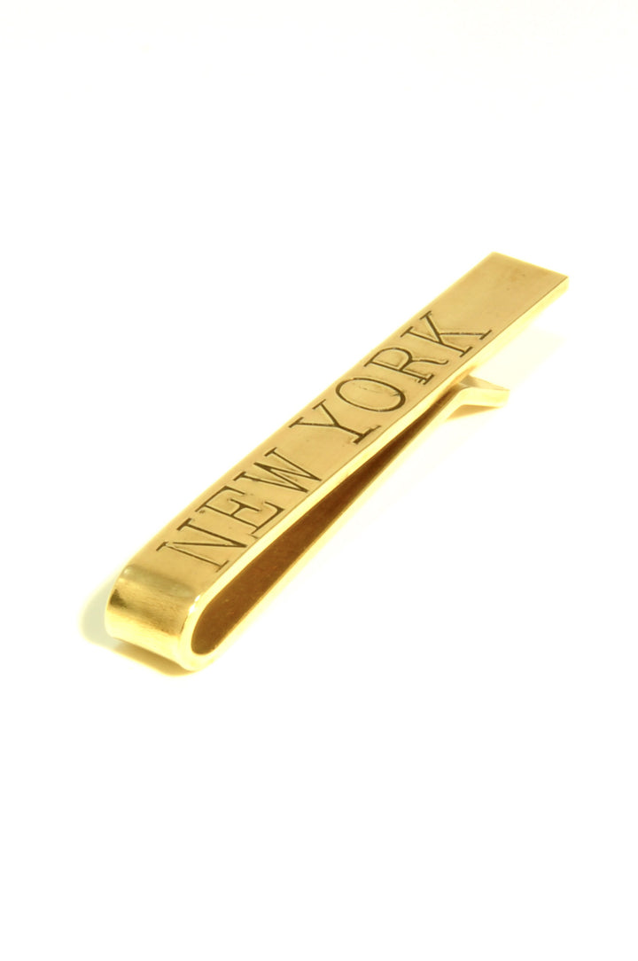 WINDSOR stamped tie bar, NEW YORK, main