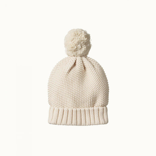 The Kids Store-NATURE BABY AHOY POM POM BEANIE - NATURAL-