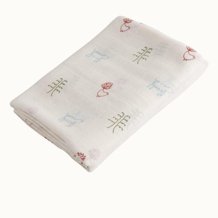 The Kids Store-NATURE BABY ORGANIC MUSLIN WRAP - NATURE BABY PRINT-OS-