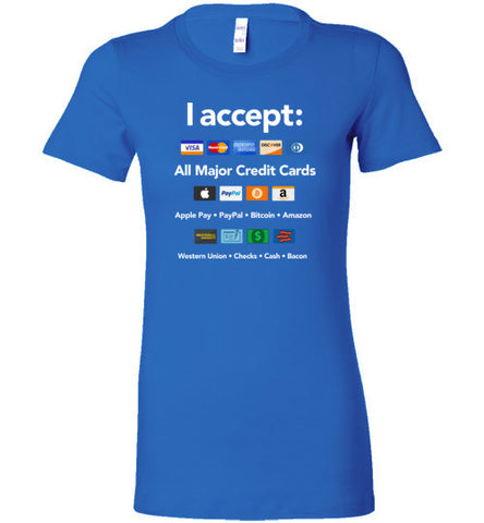 All Types of Payments Accepted - Women's T-Shirt