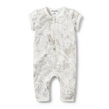 PEEKABOO SHORT SLEEVE ZIPSUIT-ZIPSUIT-Wilson and Frenchy
