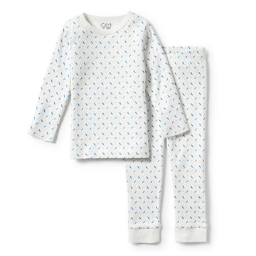 DROPLET LONG SLEEVE PYJAMA SET - Wilson and Frenchy
