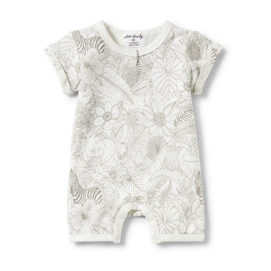 PEEKABOO PLACKET DETAIL BOYLEG GROWSUIT-GROWSUIT-Wilson and Frenchy